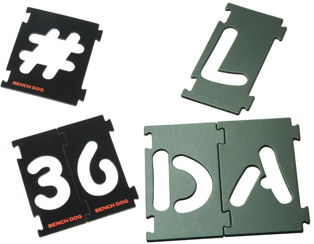 Benchdog interlocking signmaking templates letters numbers for Router lettering template sets
