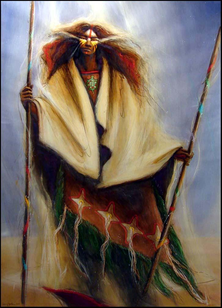 Medicine Woman Tarot By Carol Bridges: Larry Fodor Medicine Woman 4 Original Painting Custom