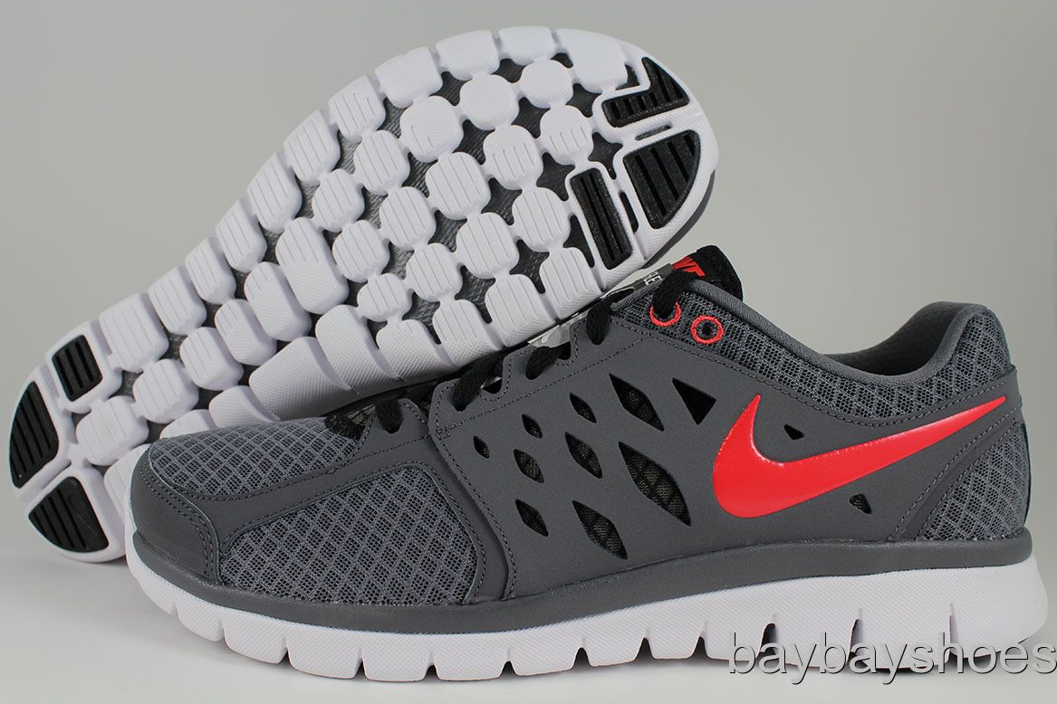Nike Men S Flex  Running Shoes Grey Pimento