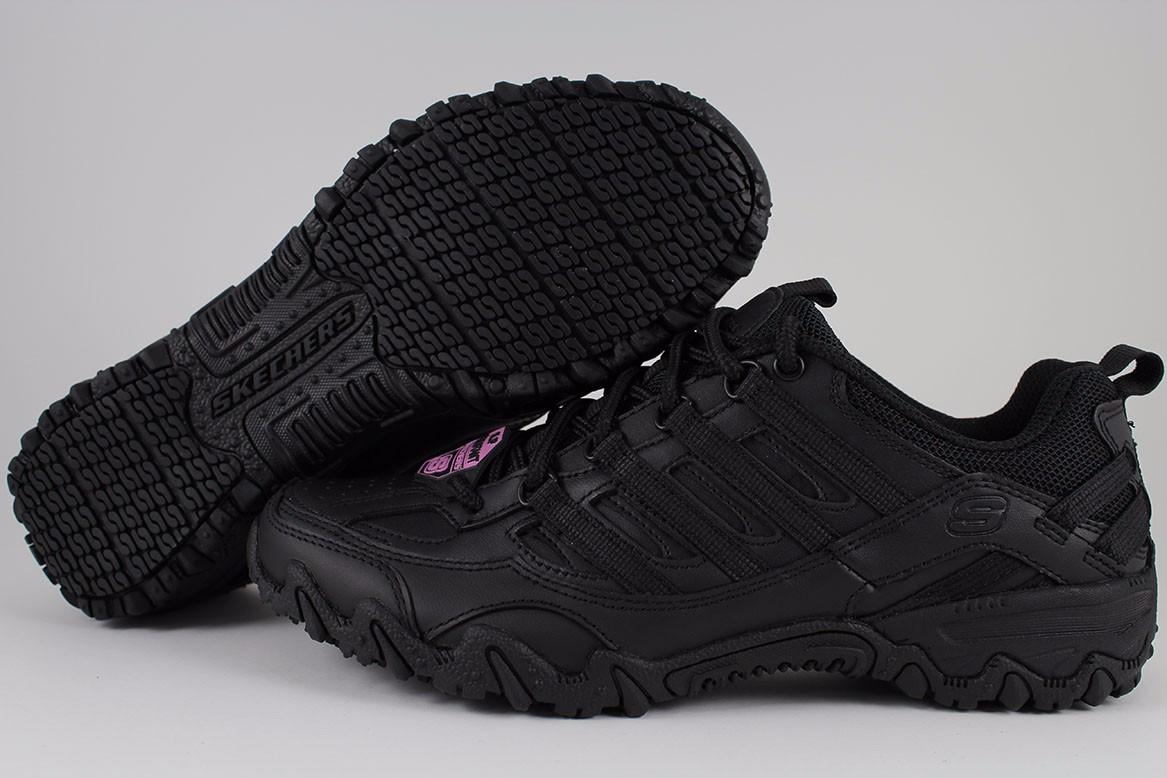 Skechers Womens Black Work Shoes