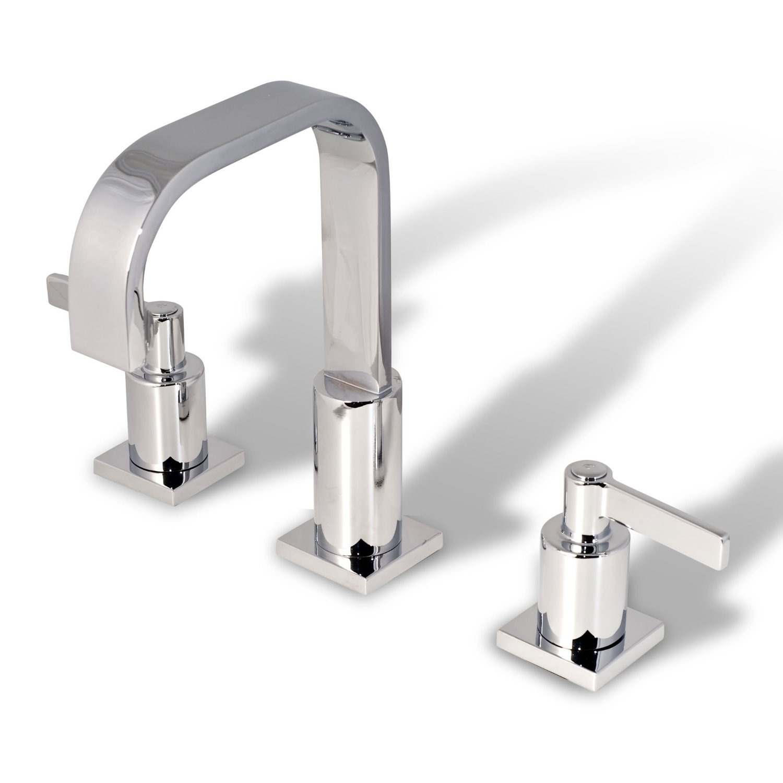 Chrome Bathroom Sink: Modern Bathroom Vanity Sink Widespread Lavatory Faucet