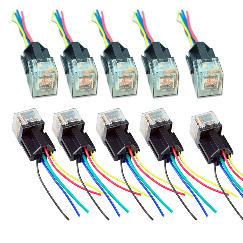 10pack car trunk 12v c 12v 60a 60 a transparent spdt relay socket rh ebay com