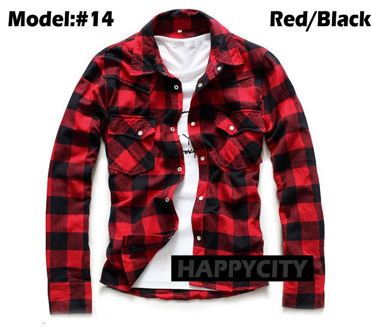 New Mens Lumberjack Brush Casual Shirt Cotton Flannel Check Slim Fit