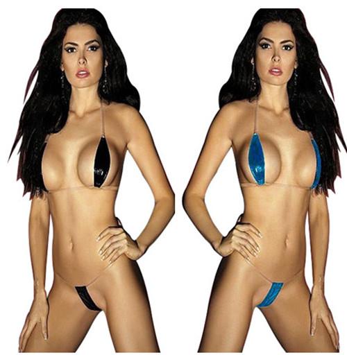 Men and women striper bikini