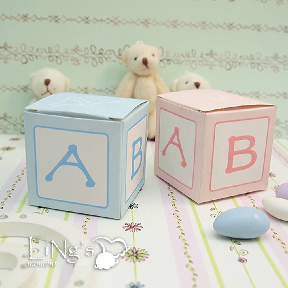 """2""""x2""""x2"""" Favor Gift Candy Box Bomboniere Boxes Baby Shower"""