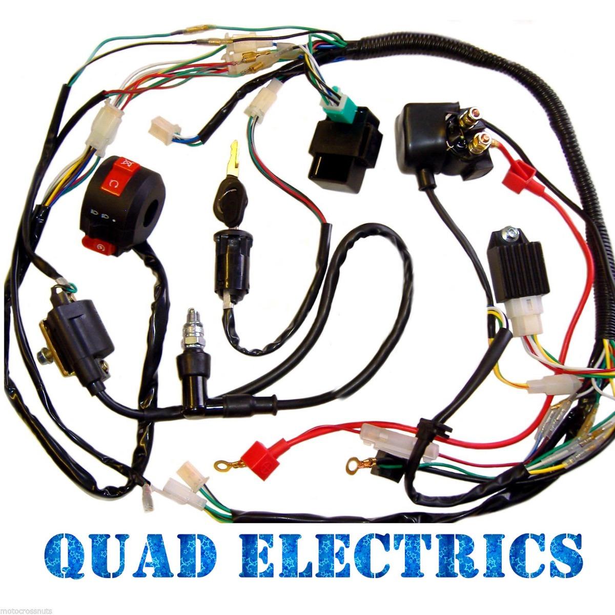 125cc 4 Stroke Atv Wiring Diagram Real 49cc Mini Quad Harness Cdi Coil Kill Key Switch 50cc 110cc Ssr 125 Pit Bike Tao