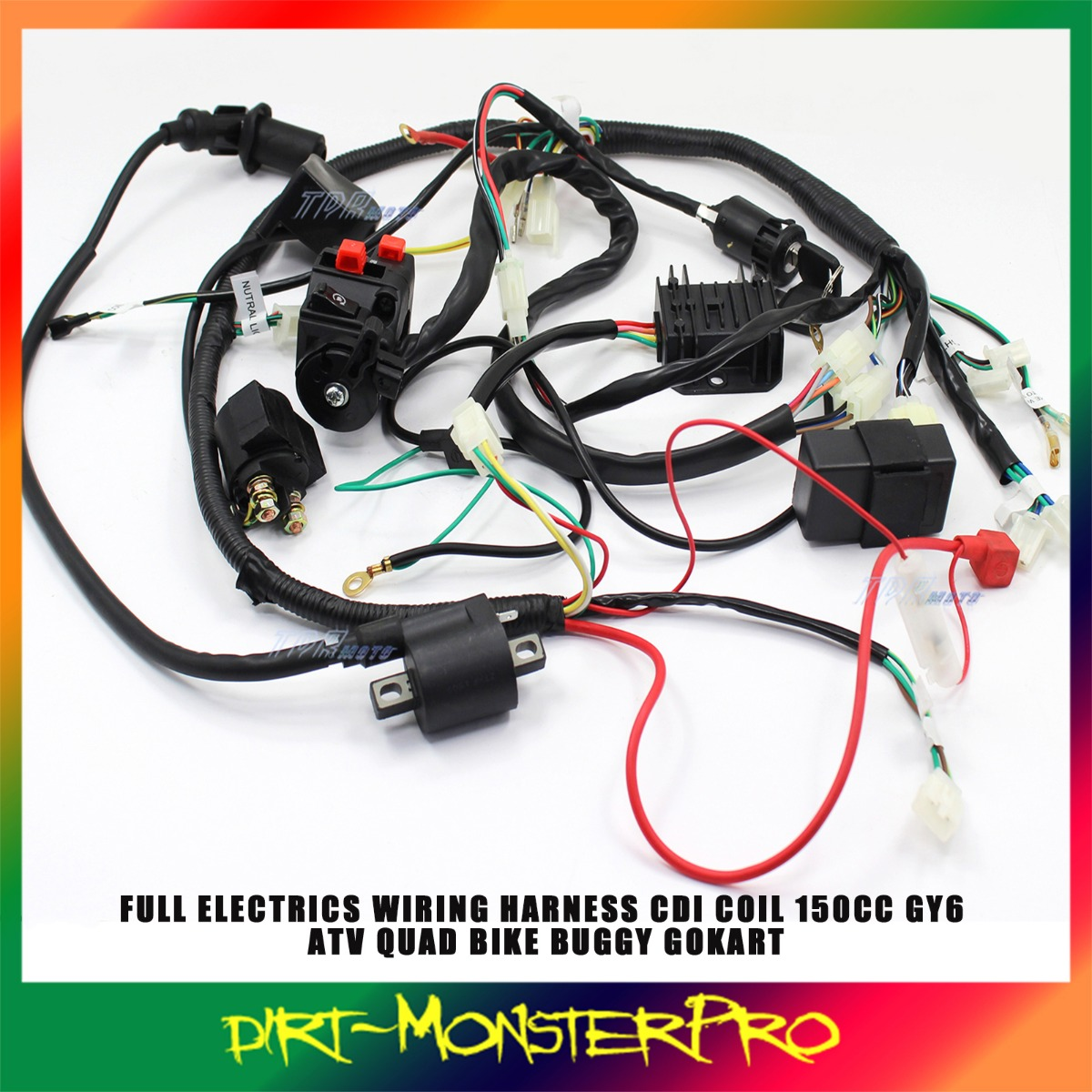 Gy6 200cc Chinese Atv Wiring Everything About Diagram Buggy Harness Loom 150cc Electric Start Water Cooled