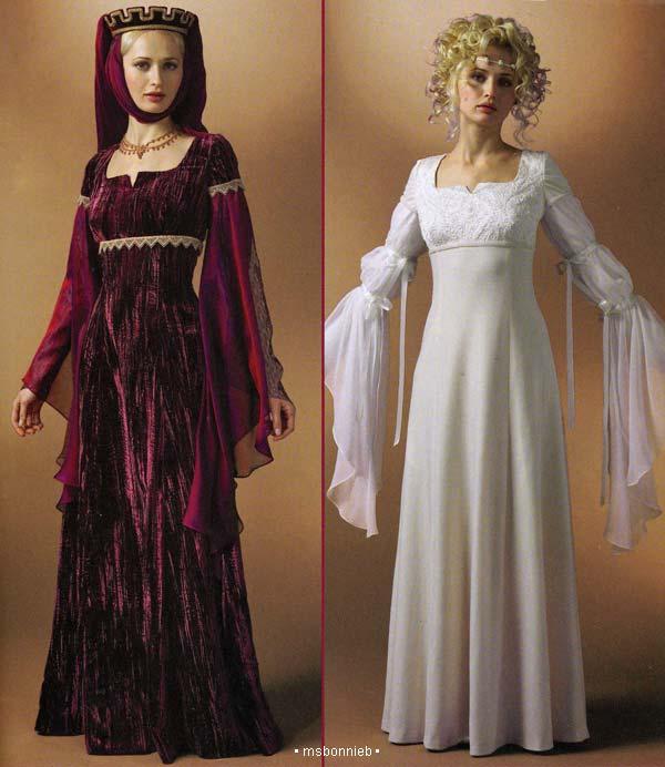 Renaissance Wedding Dress Costume History Mccall S By Heychica: Medieval-Renaissance Dress, Wedding Gown Pattern 6-12