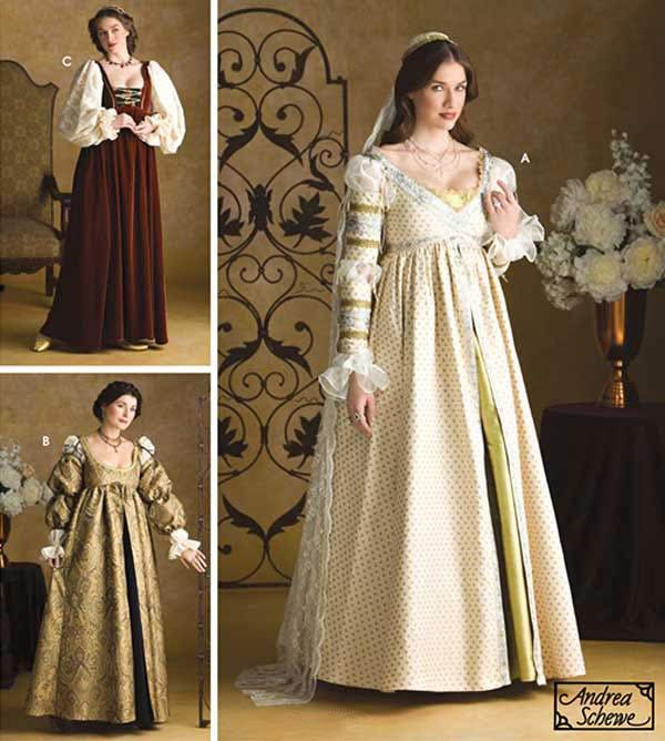 Renaissance Festival Wedding Dresses: Renaissance Maiden Dress Costume & Wedding Gown Simplicity