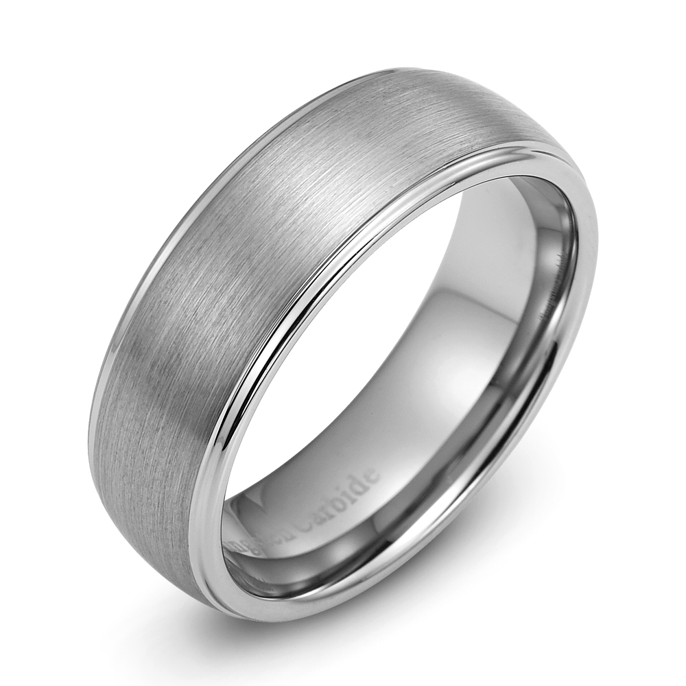Mens Wedding Ring New Tungsten Carbide Band For Man Size 8