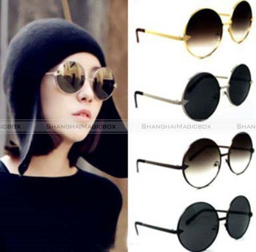 Men-Women-Vintage-Style-Round-Frame-Metal-Circle-Sunglasses-4-Colors