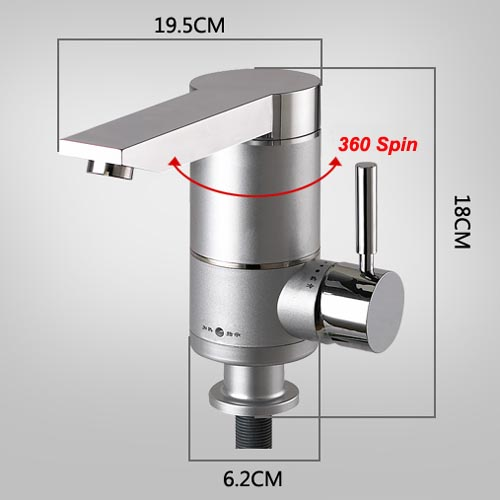 Kitchen Tap Swivel Spout From Wall With Separate Hot Cold
