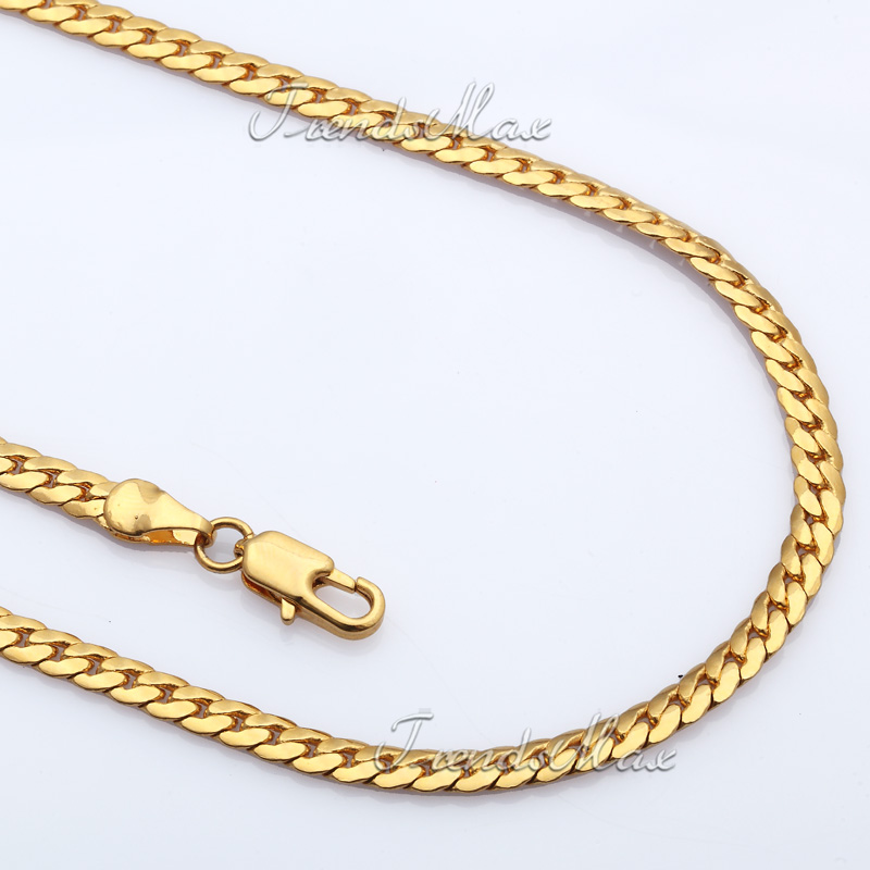 Thin Gold Chain Bracelet: 3mm Thin Womens Mens Flat Close CURB CUBAN Gold Filled